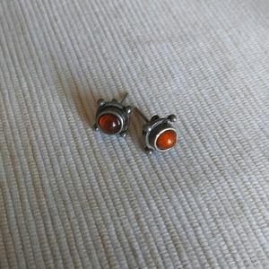 Jewelry - Boho Amber Cabachon Studs
